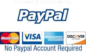 Secured Payments by PayPal - No PayPal account reqired.